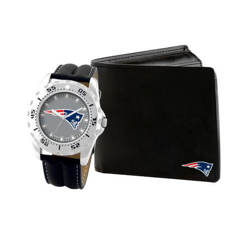 WATCH AND WALLET GIFT SET NEW ENGLAND PATRIOTS