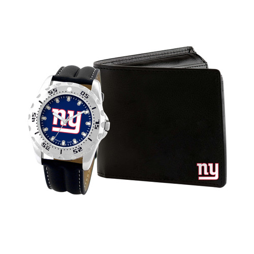 WATCH AND WALLET GIFT SET NEW YORK GIANTS