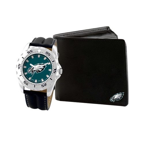 WATCH AND WALLET GIFT SET PHILADELPHIA EAGLES