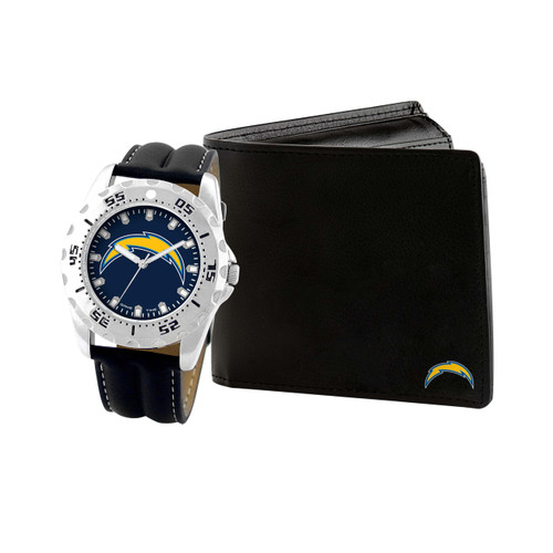 WATCH AND WALLET GIFT SET LOS ANGELES CHARGERS