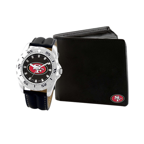 WATCH AND WALLET GIFT SET SAN FRANCISCO 49ERS