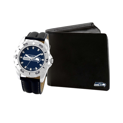 WATCH AND WALLET GIFT SET SEATTLE SEAHAWKS