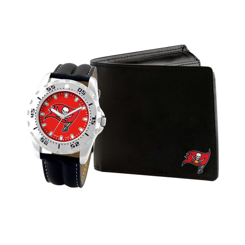 WATCH AND WALLET GIFT SET TAMPA BAY BUCCANEERS