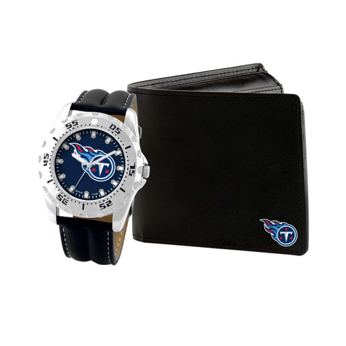 WATCH AND WALLET GIFT SET TENNESSEE TITANS
