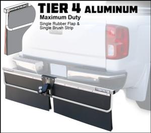 Tier 4 Aluminum (Maximum Duty Single Rubber Flap and Single Brush Strip)