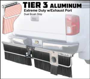 Tier 3 Aluminum (Extreme Duty Dual Brush Strip With Exhaust Port)