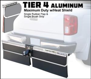 Tier 4  Aluminum (Maximum Duty Single Rubber Flap and Single Brush Strip With Heat Shield)