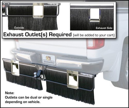 Exhaust Outlet, Dual for Adjustable Towtector