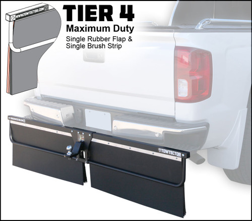 Tier 4 (Maximum Duty Single Rubber Flap and Single Brush Strip)