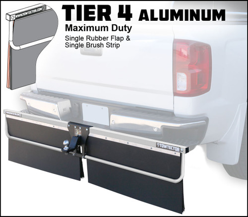 Tier 4 Aluminum (Maximum Duty Single Rubber Flap and Single Brush Strip)