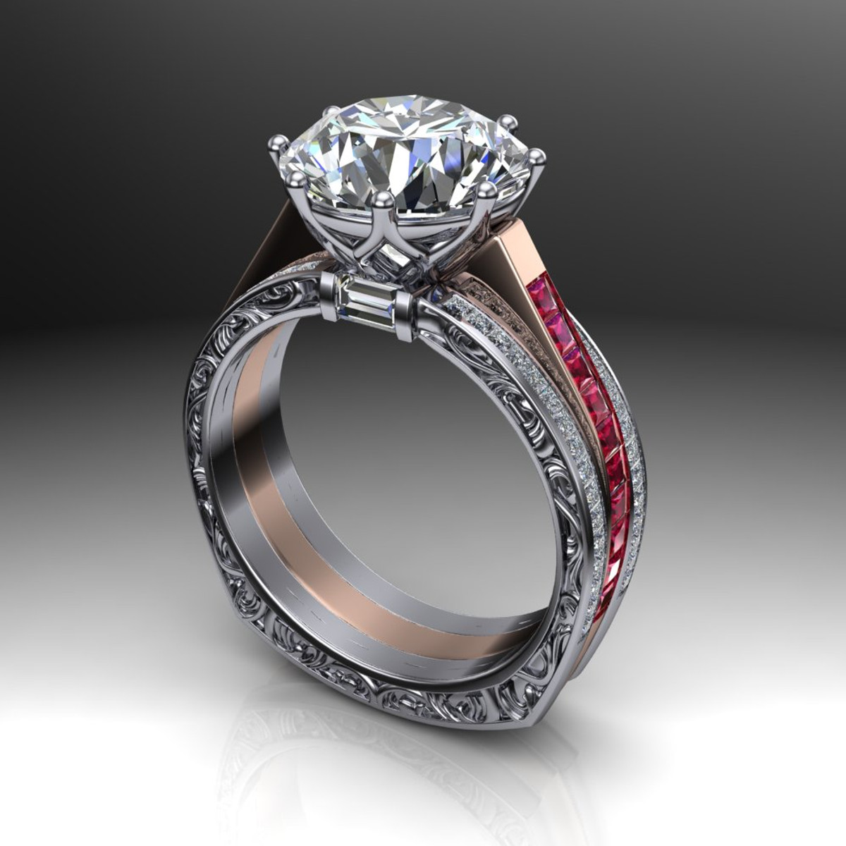 diamonds set pave diamond shiree pre prong side products rings ring cut platinum engagement classic carat round odiz