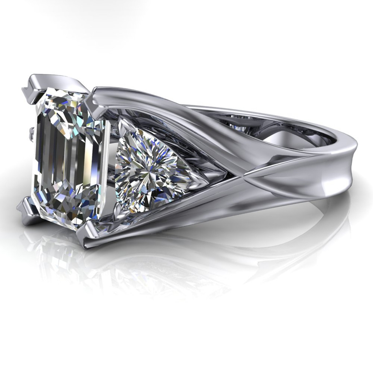 rings cut trillion diamond engagement rnd ring