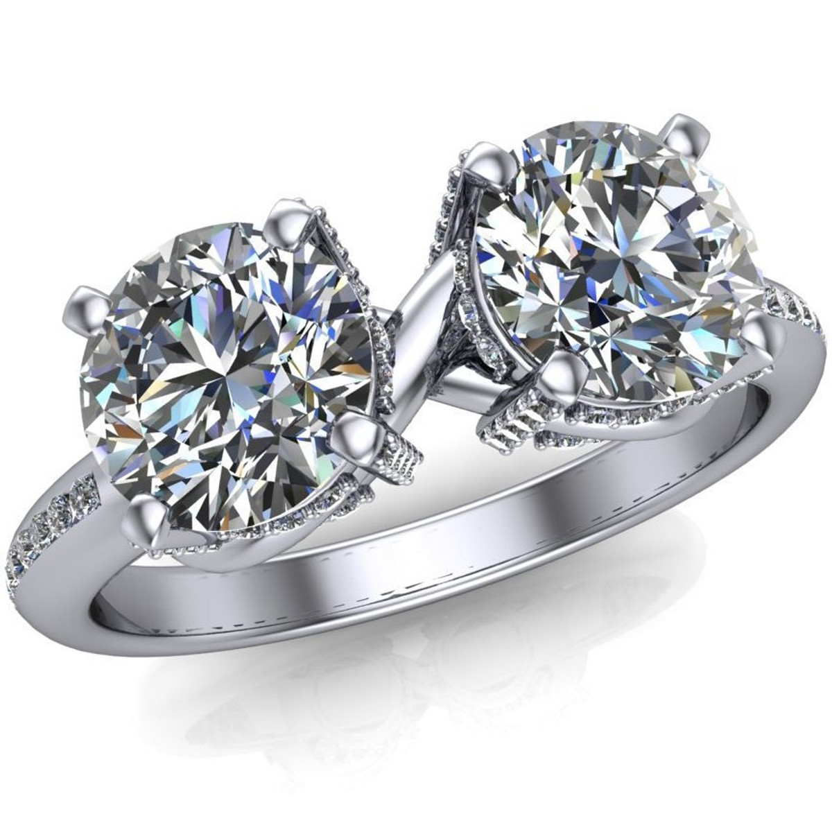 sz set engagement diamond three ctw dsc products stone ring high