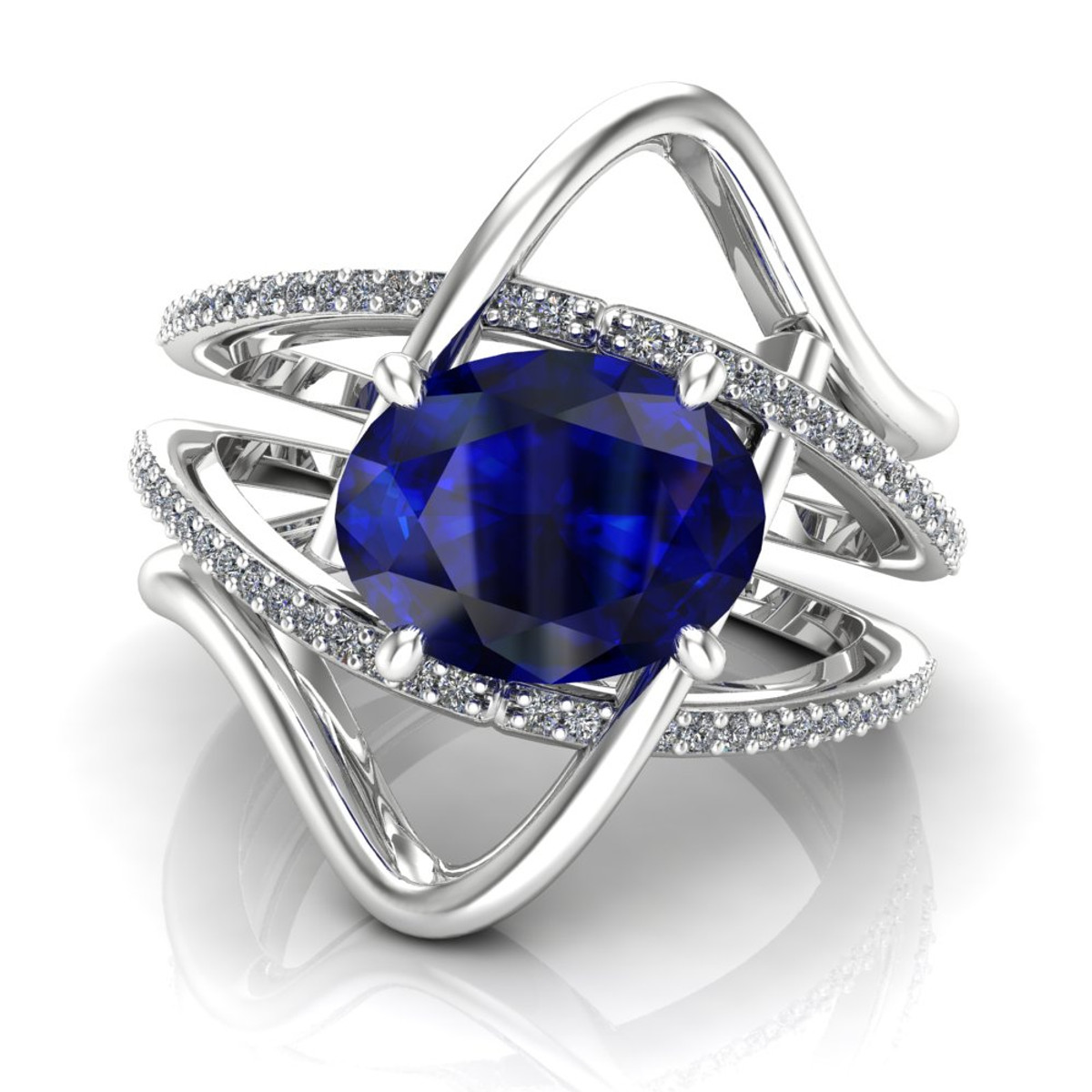 shiva rings boutique ring safire sapphire engagement blue diamond image product pear