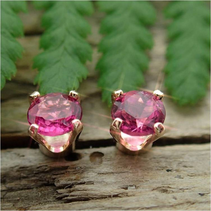 opal jewellery tourmaline product sushilla earrings pink stud