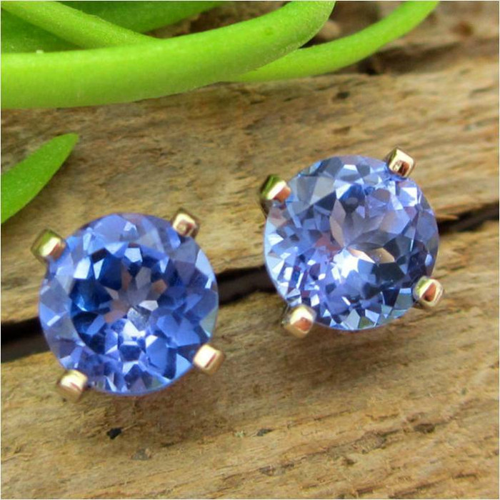 Tanzanite Stud Earrings, Limited Edition