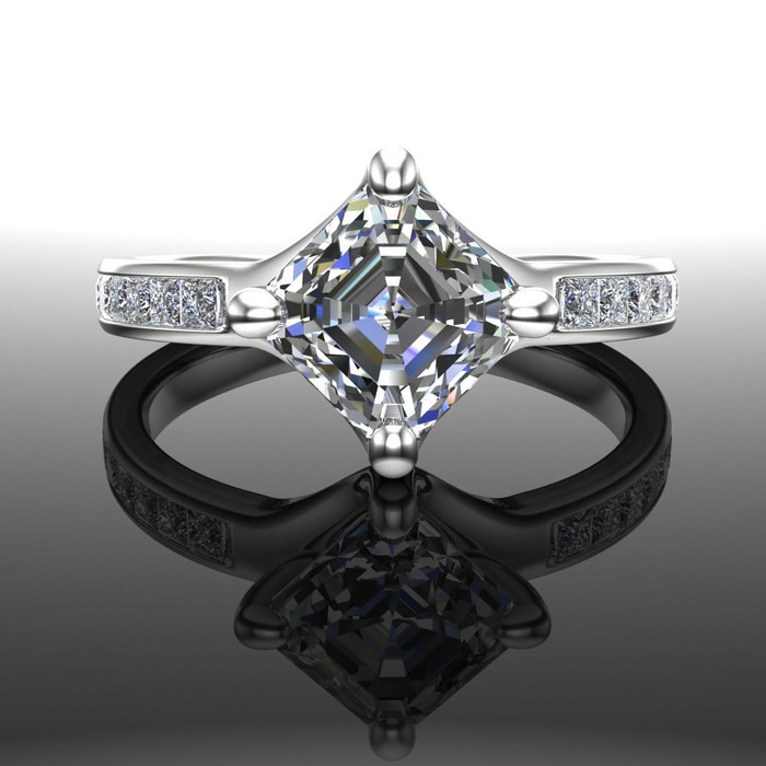 Dramatic Engagement Ring | Asscher 1.5 Carat Diamond