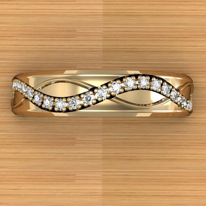 Infinite Weave Ring   Custom Women's Diamond Wedding Band