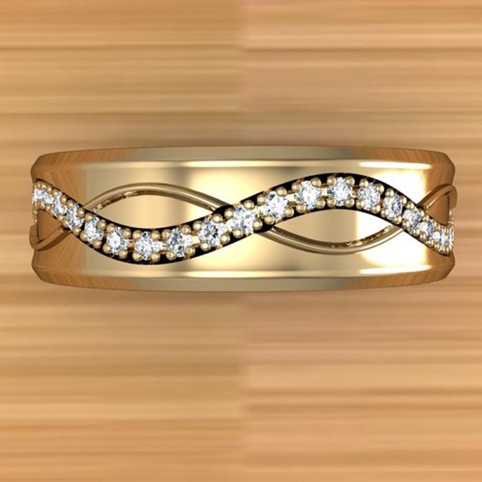 Infinite Weave Ring   Custom Men's Diamond Wedding Band