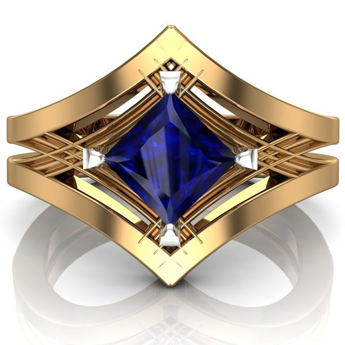 mens overstock and tcw engagement cut free accent sapphire emerald jewelry masculine over watches accented sterling ring palmbeach today diamond platinum shipping in men s blue rings product si