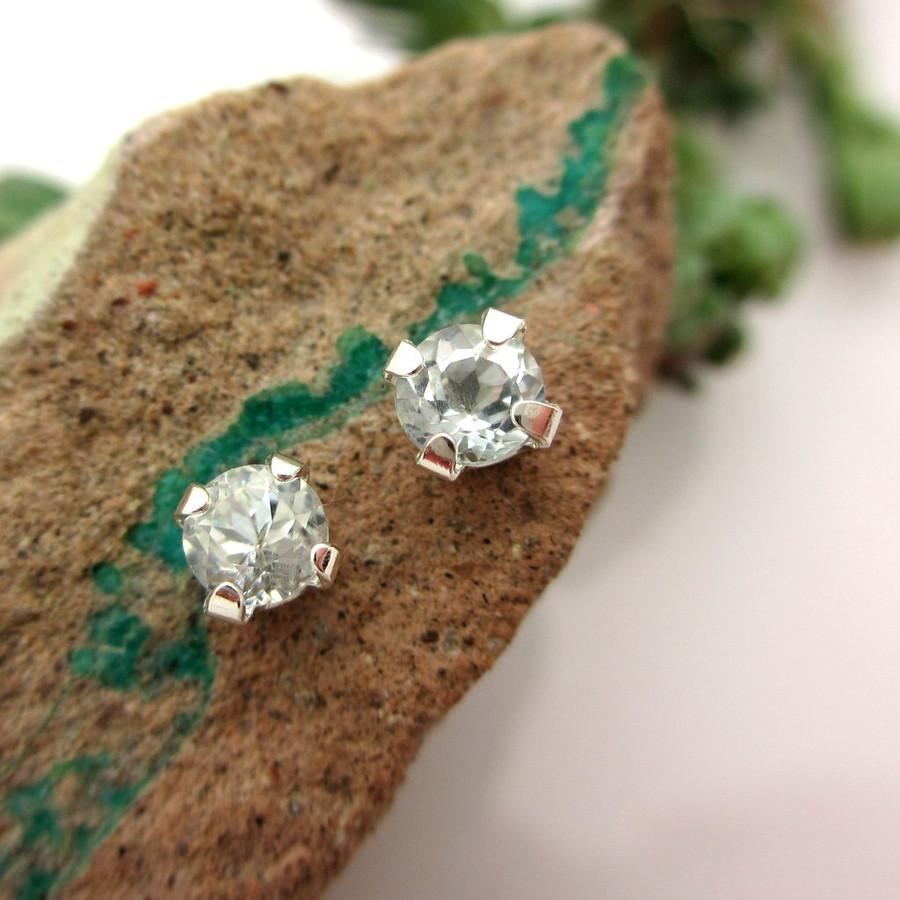 Aquamarine stud earrings