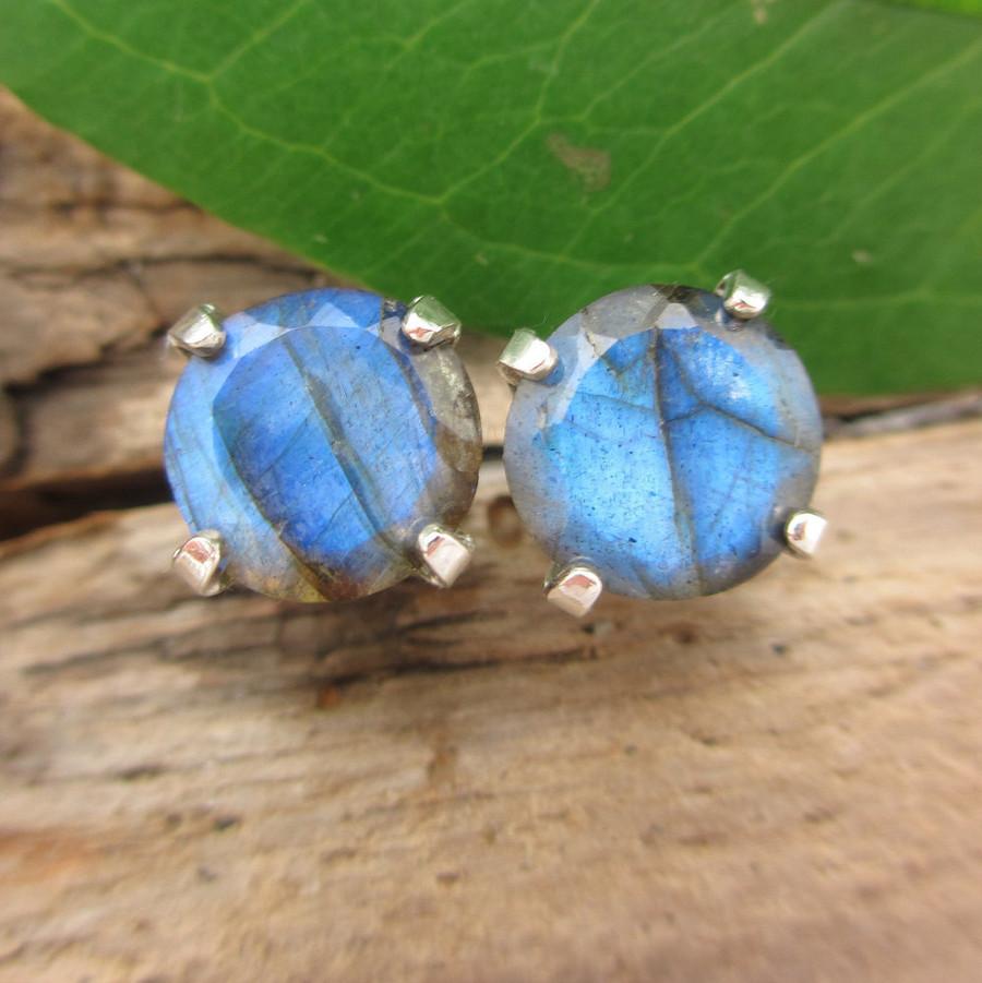 Labradorite Stud Earrings | Spectrolite Type