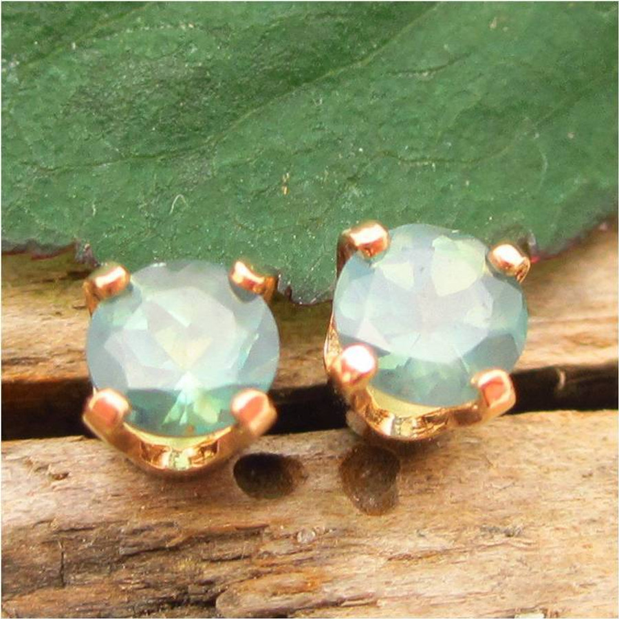yellow earrings gold alexandrite groupon round natural deals gs stud mm