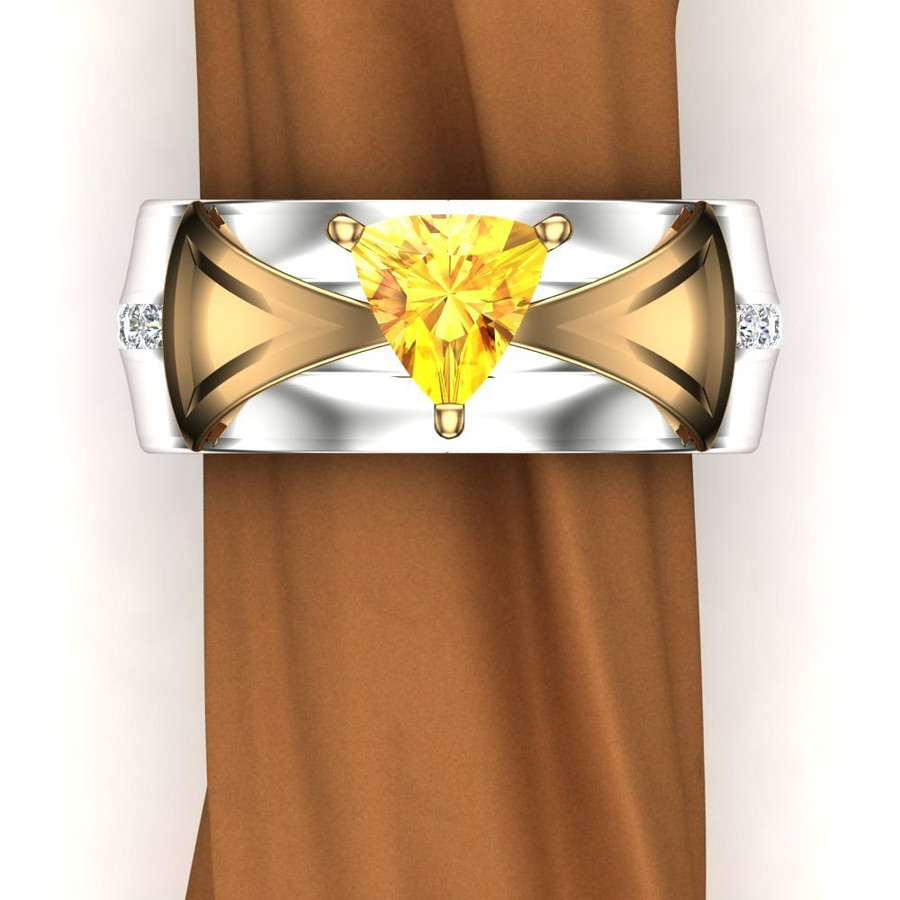 Gemstone Engagement Ring | Trillion 1+ Carat Chrysoberyl