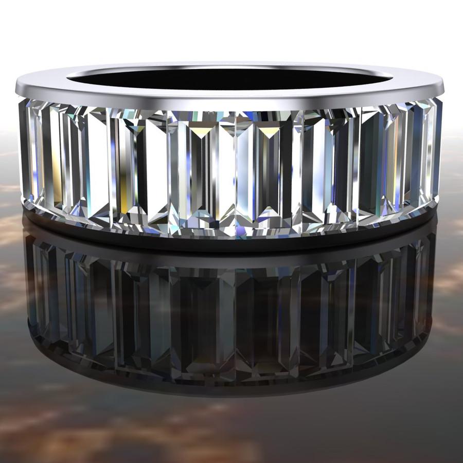Unbroken Eternity Engagement Ring   Baguette 7ct Diamonds