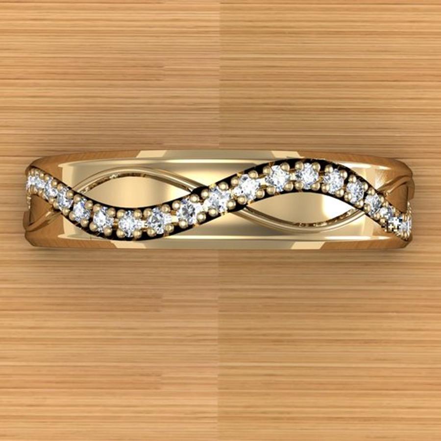 Infinite Weave Ring | Custom Women's Diamond Wedding Band