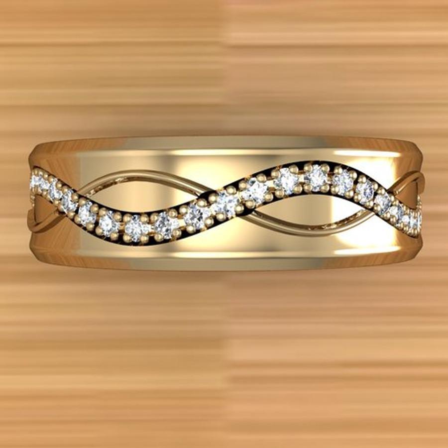 Infinite Weave Ring | Custom Men's Diamond Wedding Band