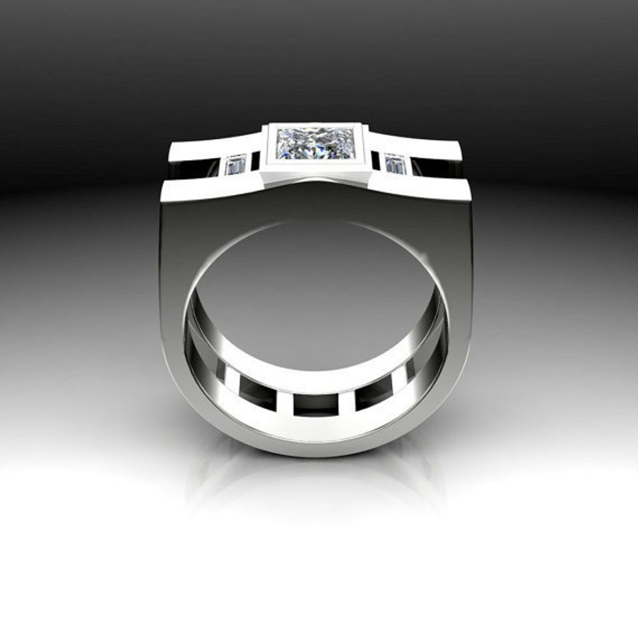 Agent | Men's Engagement Ring | Square 1 Carat Diamond
