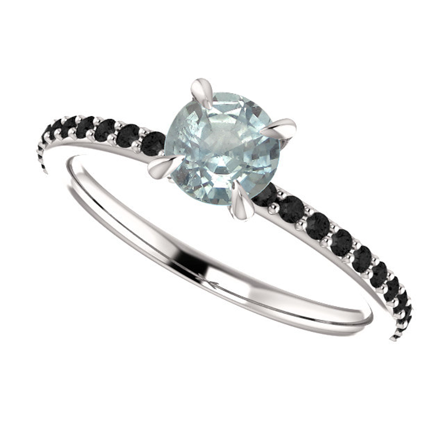 Montana Sapphire Engagement Ring