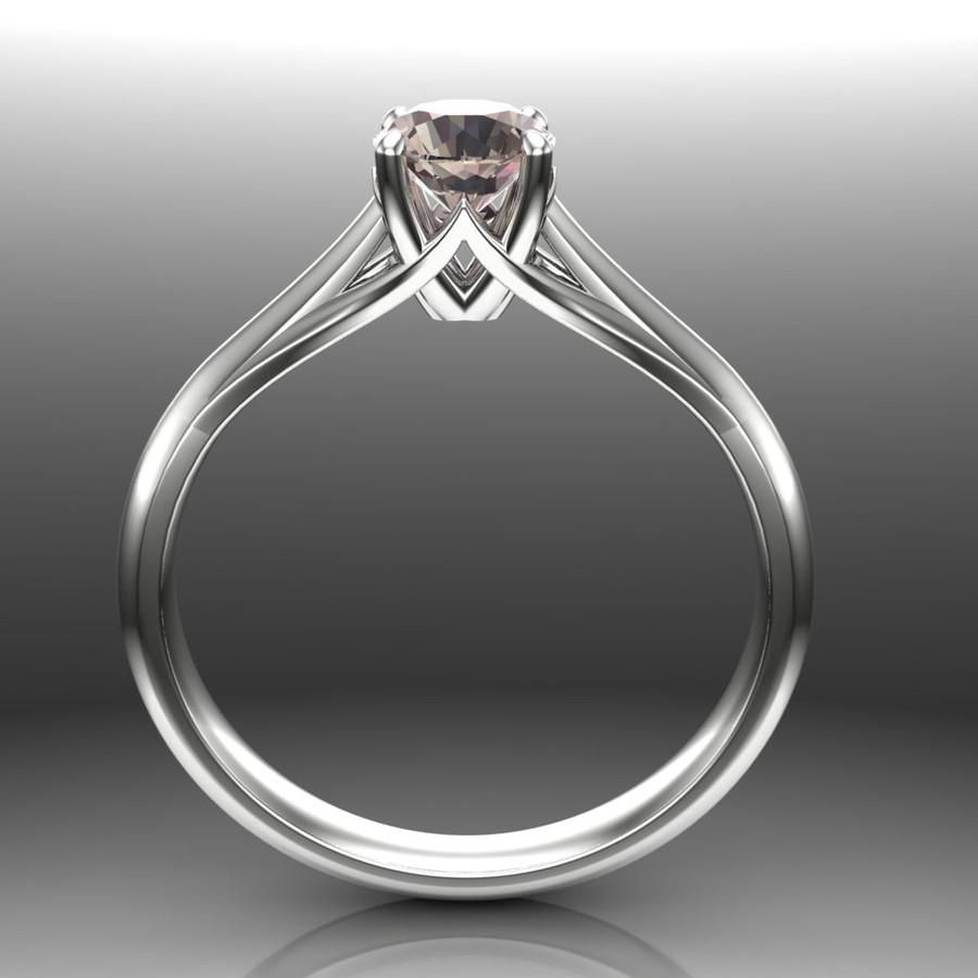 Color Change Sapphire Engagement Ring   Precision Cut Gem