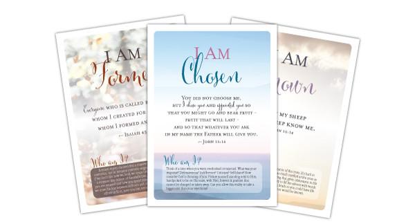 I Am Verse Cards and Easel