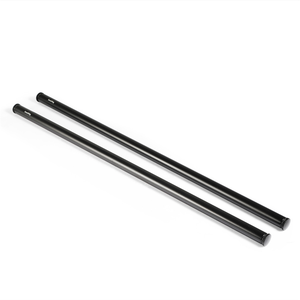 SmallRig 2pcs 15mm Black Aluminum Alloy Rod(M12-45cm) 18inch 1055