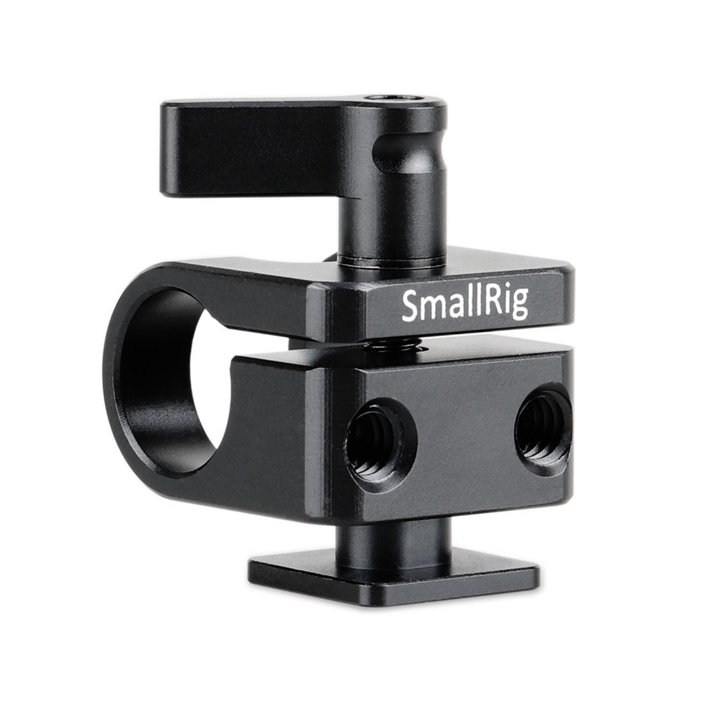 SMALLRIG 15mm Rod Clamp with Hot Shoe Mount 1597