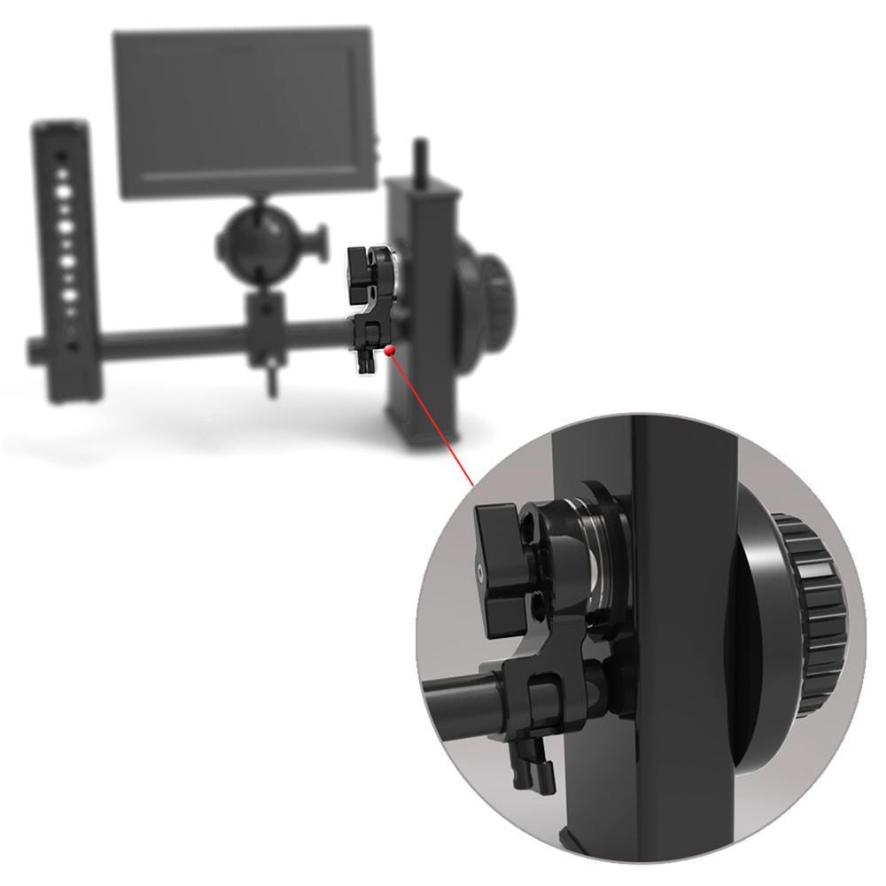 SMALLRIG 15mm Rod Clamp with ARRI Rosette(1/4'' Screw hole) 1743
