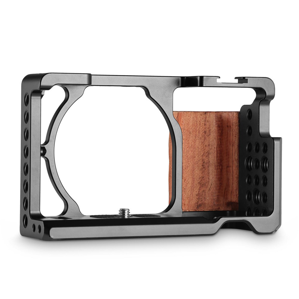 SmallRig Cage with Wooden Handgrip for Sony A6000A6300 2082