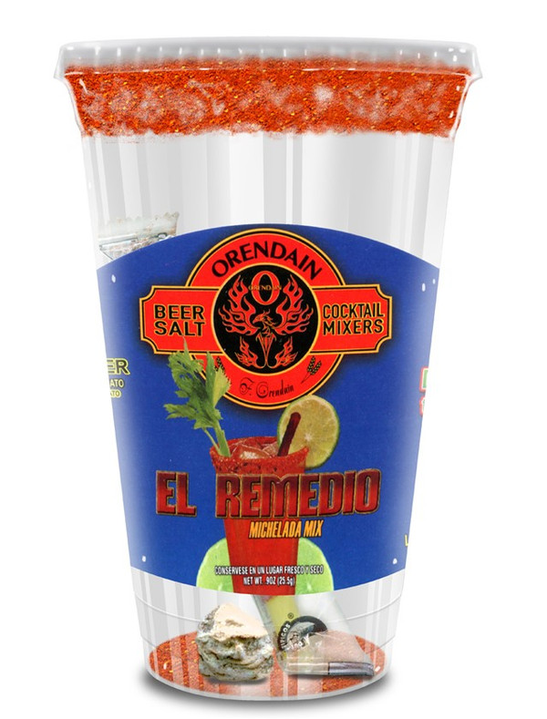 "El Remedio - ""The Hangover Remedy"" with Tamarind Picante Stick (clear cup)of 24"