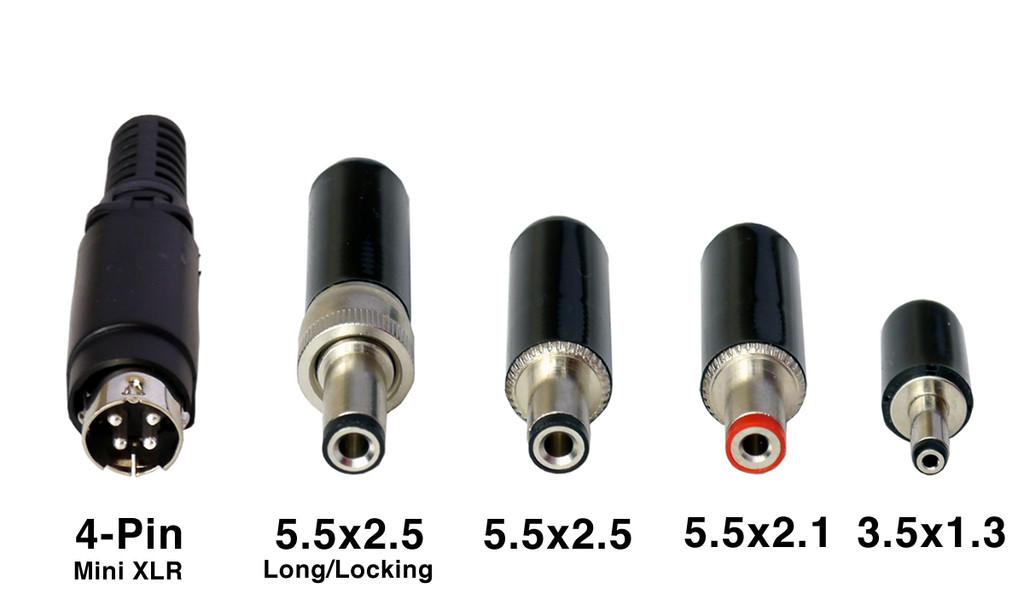 DC Plug Options and Sizes
