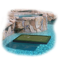 """Golf Floating Pool Island Savior - 6 Feet Long by 4 Feet Wide by 4 Inches Thick - 6'x4'x4"""""""