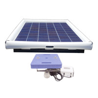 Savior Ultrasonic Pool Pond Algae Sanitation Disinfection Systems 120-watt Solar Powered 30000 Gallon