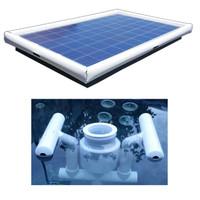 Savior Surface Pond Skimmer Floating Solar Pond Cleaner 120-watts Solar Powered