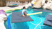 Floating Water Mat and Pool Float Savior Two - 8 Feet Long by 6 Feet Wide by 2 Inches Thick - 8'x6'x2""