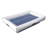 Savior Portable Sun Power Charger USB Jack 35W 2.1amp 20000mAh Li-ion External Battery for Device Life 96-in L x 72-in W x 4-in H