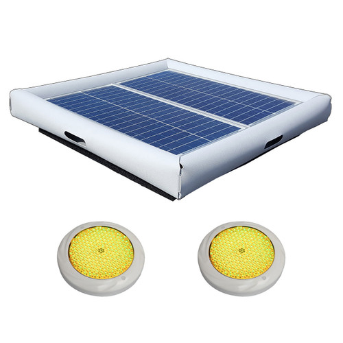 Savior Light SMD LED RGB 5000 Lumens 60-watt Solar Powered Pool Spa Pond Color Light with Remote