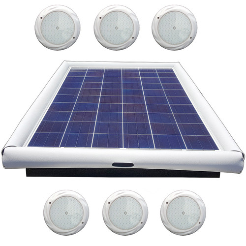 Savior Light SMD LED RGB 15000 Lumens 120-watt Solar Powered Pool Spa Pond Color Light with Remote