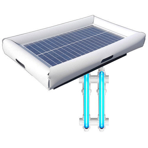 Savior UV Ultraviolet Pool Spa Sanitation Disinfection Systems 30-watt Solar Powered 5000 Gallon