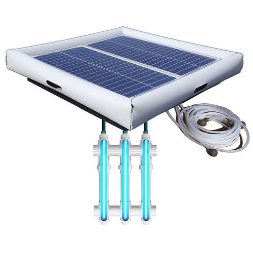 Savior UV O3 Ultraviolet Ozone Pool Spa Sanitation Disinfection Systems 60-watt Solar Powered 25000 Gallon